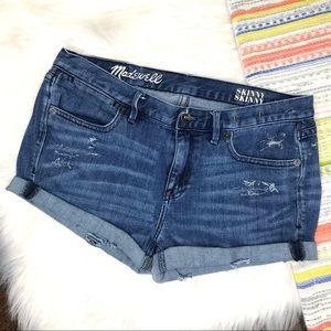 Madewell denim cuffed shorts